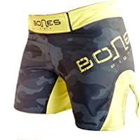 "Bones Fight"": Fight Shorts para Mujeres, Women´s MMA Short, MMA Short para Mujeres, BJJ, Women´s Grappling Short, Women´s Free Fight Short (S)"