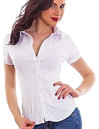 best loved 7cda8 4b12d camicia bianca donna cotone - Toocool ... - Amazon.it