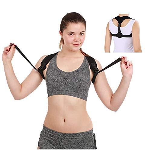 ZSZBACE EINFÜHRUNGSANGEBOT Haltungskorrektur für eine aufrechtere Haltung - Rückenstütze ideal für geraderen Rücken (Schwarz, Eine Größe)