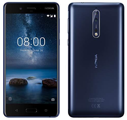 Nokia 8ta-1052DS 64GB/4GB 13,5cm WQHD-Factory Unlocked International Version GSM Smartphone-kein CDMA-Keine Garantie in den USA, Tempered Blue - Gsm-smartphone