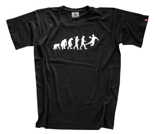 Preisvergleich Produktbild Shirtzshop Erwachsene T-Shirt Original Handball Evolution, Schwarz, L, sshop-evohandb-t