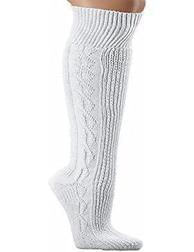 Herren Trachtensocken Trachten Socken Strümpfe für Lederhose Kniebund Kurz Hose weiss