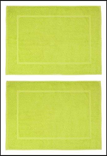 Casa Copenhagen - Basics 50 x 70cm, 700 g/m², Baumwolle 2 Stück Reversibel Badematte Teppiche Matten, Hellgrün