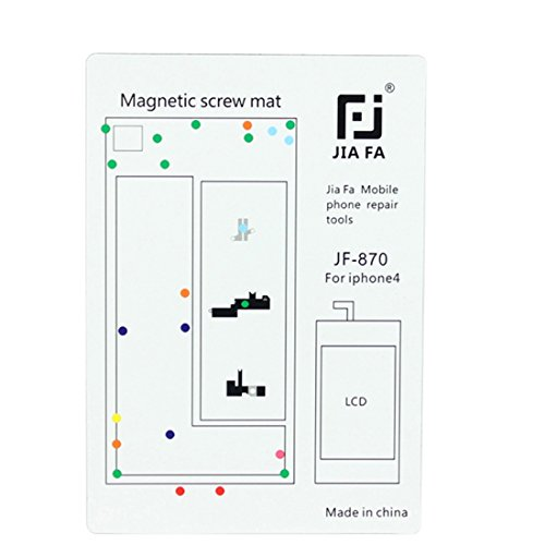 CellphoneParts YHM Magnetic Screws Mat für iPhone 4 - Iphone Schraube 4 Mat