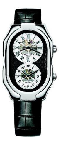 Philip Stein - 12A-SKB-AB - Montre Mixte - Automatique Analogique - Cadran Blanc - Bracelet Cuir