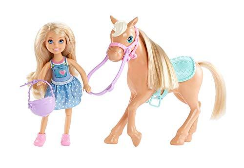 Barbie DYL42 Chelsea und Pferd,