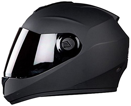 Steelbird Hunk Full Face Helmet with MJ Brand 5 mukhi Rudraksh (Matt Black, M)
