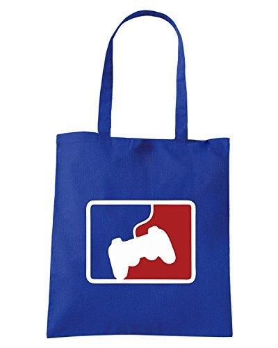 T-Shirtshock - Borsa Shopping OLDENG00816 pro gamer Blu Royal