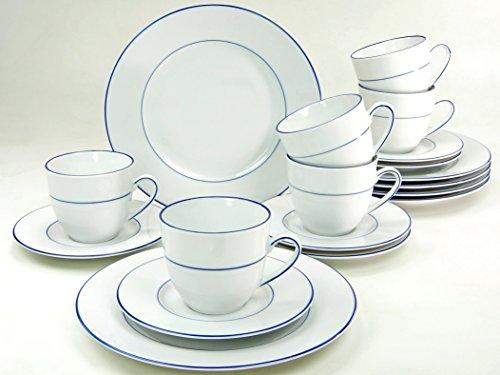 Creatable 14760, Serie Blue Sky, Geschirrset Kaffeeservice 18 teilig