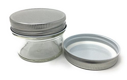 4Oz Mason Jar Rund Klar Regular Mund in Fall der 12(12Stück) von Verpackung für Sie silber -