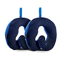 BCOZZY Chin Supporting Travel Pillow �?? Supports the Head, Neck and Chin in Maximum Comfort, 2015 Travel Goods Show�??s Best Travel Accessory Nominee and Available in Adult or Child Sizes. A Patented Product. (ADULT, NAVY + NAVY)