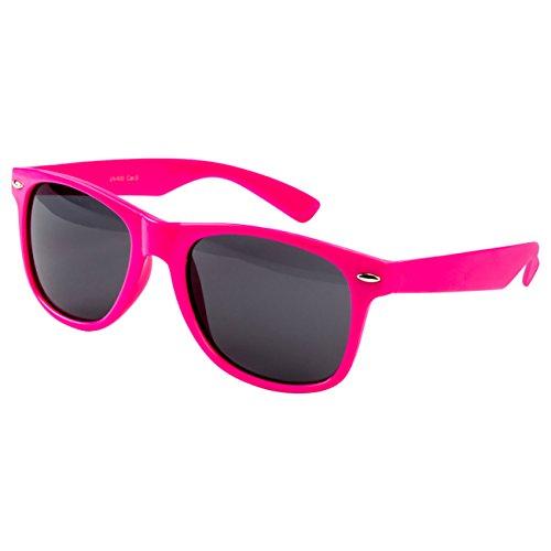 Ciffre EL-Sunprotect® Nerdbrille Brille Nerd Sonnenbrille Hornbrille Streber Pink