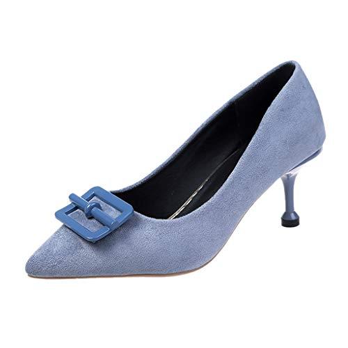 Bluestercool Donne Ladies Fashion Punta Causale Scarpe da Lavoro Singole Scarpe con Tacco Alto