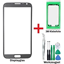 3021® Premium Film de verre Kit de réparation pour Samsung Galaxy Note 2Gris (Gris Titanium)–Oleophobic Écran en verre pour avant Modèle N7100/N7105LTE + prédécoupées Lot de 3m Film adhésif et 8Set d'outils