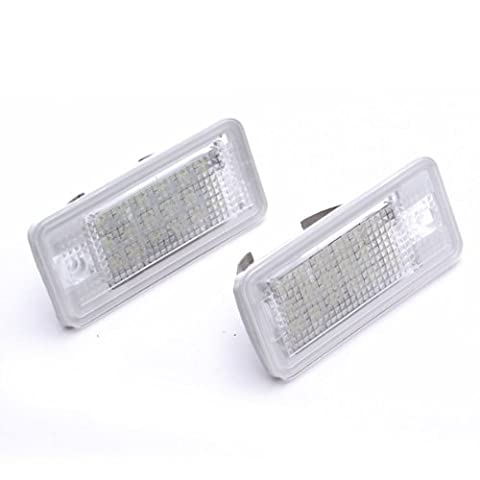 TOOGOO (R) 2 Stueck 18 SMD LED Kennzeichenbeleuchtung Lampe fuer Audi A3 A4 8E RS4 A6 RS6 - Weiss