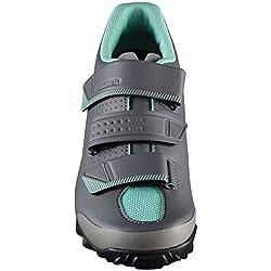 SHIMANO SHME2PG390WL00 - Zapatillas Ciclismo, 39, Negro - Verde, Mujer