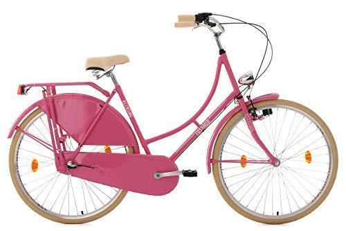 KS Cycling Damen Fahrrad Hollandrad Tussaud 3 Gänge RH 54 cm, pink, 28 Zoll