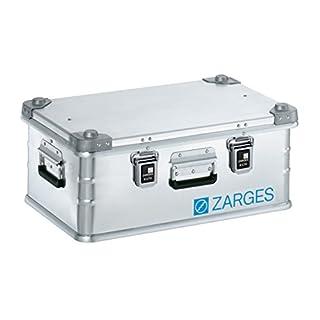 ZARGES Alu-Transportkiste - in robuster Ausführung - Inhalt 42 l, Innen-LxBxH 550 x 350 x 220 mm - Alu-Box Alu-Kiste Alu-Transportkiste Alutransportkiste Alutransportkisten Mehrwegbox Rollkiste aus