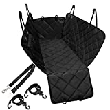 NICREW Dog Car Seat Cover Hammock with Seat Belt, Waterproof Seat Protector