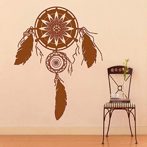 guijiumai Religiöse Wandmalereien Traumfänger Catcher Dream Protetion Wohnkultur Vinyl Kunst Wandtattoos Aufkleber Amulett 4 52 cm x 43 cm