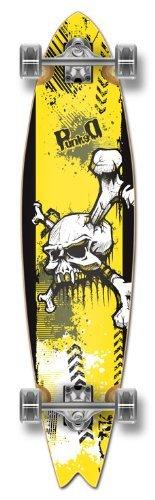 Gli Epic Sports Blank & Graphic Fishtail completa per Skateboard e Longboard, W/71 mm, ruote