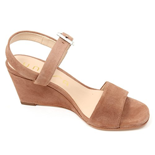 C9210 Femme Sandale Unisa Davo Beige Foncé Chaussure Sandale Chaussure Femme Beige Foncé