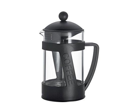 Cilio 345841 Kaffeebereiter Melina, Glas, schwarz, 12,5 x 12,5 x 22,5 cm