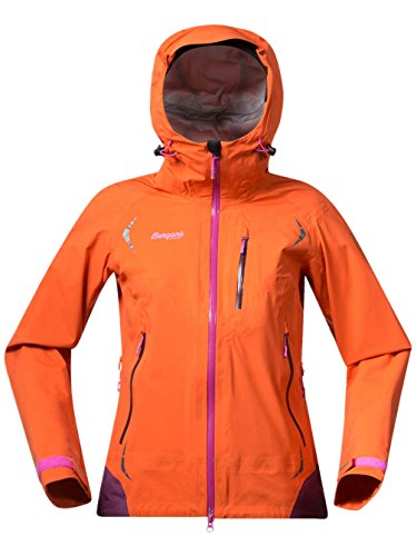 Bergans Storen Damen Jacke, Farbe Koi Orange/Plum/PinkRose, Größe L