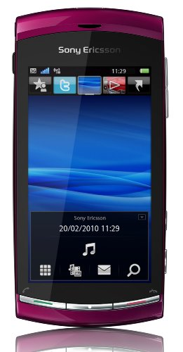 Sony Ericsson Vivaz Smartphone (UMTS, WLAN, 8.1 MP, HD-Video 720p) Venus Ruby, O2 Branding Symbian S60