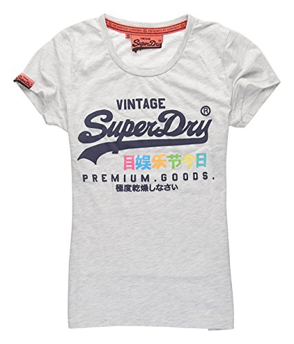 SUPERDRY Premium Goods Rainbow Tee, Maglietta Donna,