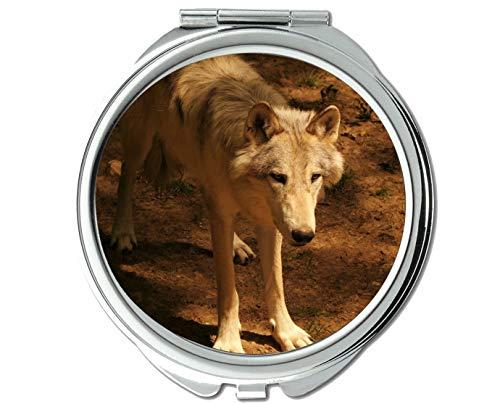 Yanteng Spiegel, Kleiner Spiegel, Tierspiegel des Tierwolfs, 1 X 2X Vergrößerung