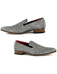 88ec16a7eec3 Rosellini Mens Italian Designer Slip on Smart Pointed Toe Shoes
