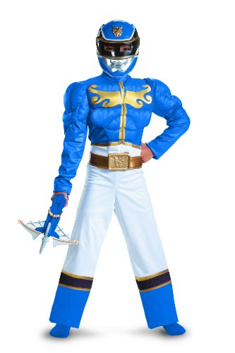 r Megaforce Blau Halloween Karneval Fasching Kostüm Kinder Jungen 140-152 (Power Ranger Halloween)
