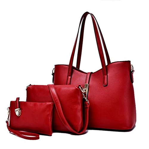 Bdawin, Borsa a mano donna blu Blue Wine Red