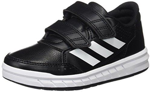 adidas Unisex-Kinder Alta Sport CF K BA7459 Fitnessschuhe, Schwarz (Core Black/Footwear White), 31 EU