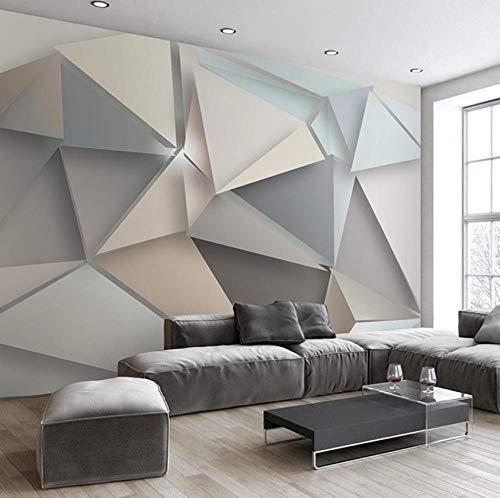 Fotomurali 3D ModerniMotivo geometrico solido Carta da Parati non tessuto poster decorazione da parete per Soggiorno Muro 250CMx175CM