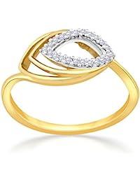 Malabar Gold And Diamonds 18KT Yellow Gold And Diamond Ring For Women - B07B5B9PN3