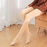 Leggings de Nailon de Otoño E Invierno, Pantalones de una Pieza Gruesos Y de Terciopelo para Mujer, Sandía Pants Pantalones Super Suaves para Los Pies,Tono de Piel,Un tamaño (85-1
