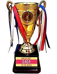 Yaya Cafe Birthday Gift for Brother, Bengali Worlds Best Dada Brother Trophy Award - Champion Golden