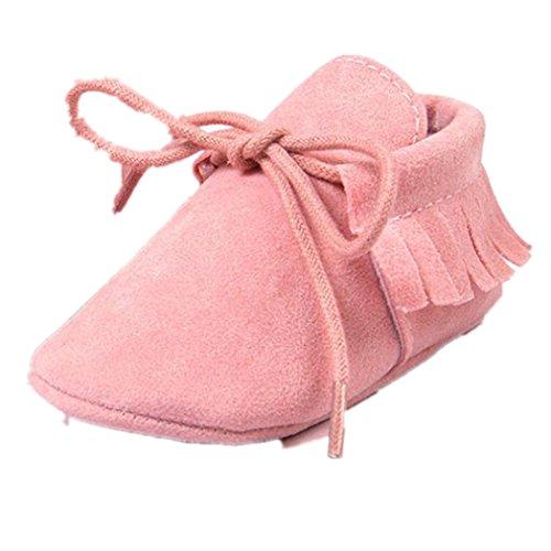 Clode® Baby Girl Kleinkind Turnschuhe Freizeitschuhe Quasten weiche alleinigen Schuhe Prinzessin Schuhe Rosa