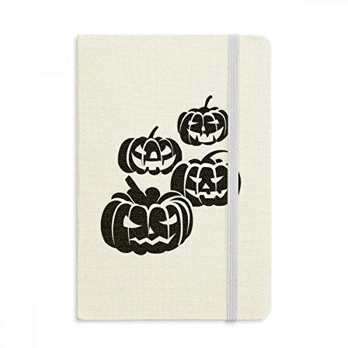 DIYthinker Vier schwarze Halloween Kürbisse Notebook Stoff Hard Cover Klassisches Journal Tagebuch A5 A5 (144 X 210mm) Mehrfarbig