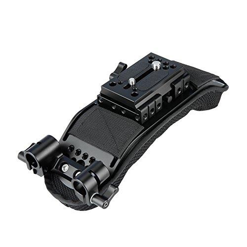 NICEYRIG 15mm Schulterpolster mit Quick Release Grundplatte 15mm Rod Clamp für Video Camcorder Kamera DV/DC Support System DSLR Rig - Shoulder Support Rig