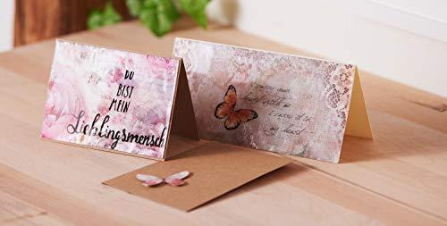 Kraftpapier Kartenset | 50 Doppelkarten mit 50 Umschlägen | Format A6 - 3
