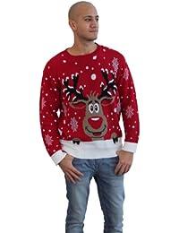 CelebLook Uomo Vintage Renna Di Natale Maglione girocollo Maglione pullover