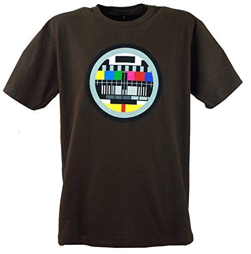 Guru-Shop Fun T Shirt `Testbild`, Herren, Baumwolle, Rundhals Kurzarm Shirt Alternative Bekleidung Braun