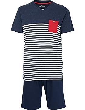 Tom Tailor - Pijama - Rayas - Manga Corta - para Hombre