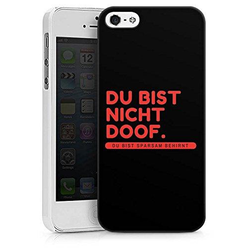 Apple iPhone X Silikon Hülle Case Schutzhülle Doof Sprüche Lustig Hard Case weiß
