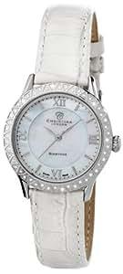 Christina Design London - 134-2SWW - Montre Femme - Quartz - Analogique - Bracelet Cuir Blanc