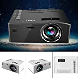 Mini Beamer Tragbar Full HD Multimedia Projektor, Unterstützung HDMI...