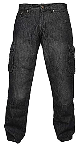 Newfacelook Hommes Motorcycle Moto Pantalon Motards Jeans Renforcée Aramide Protection
